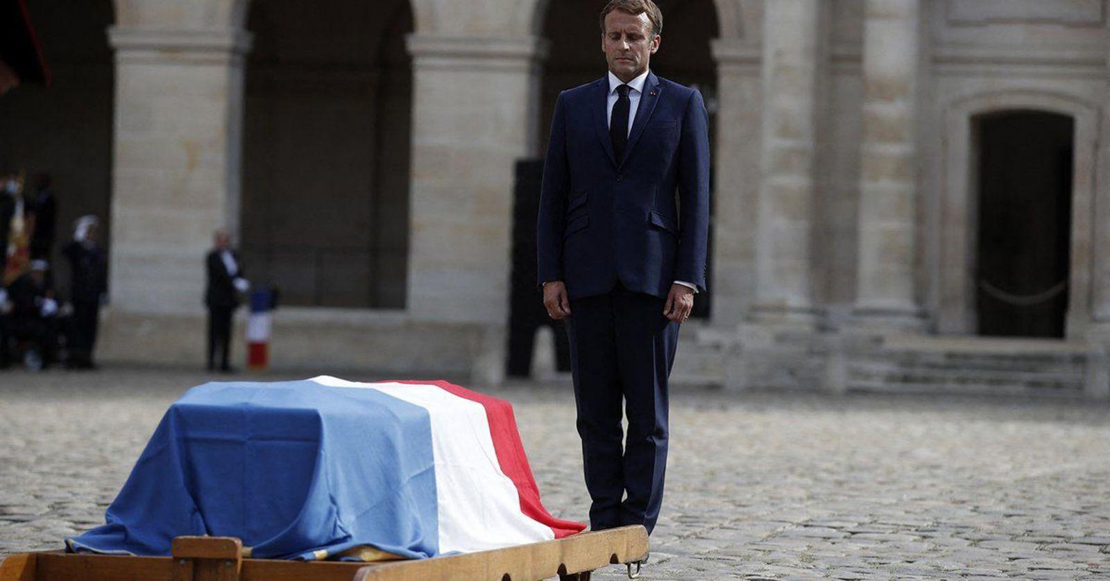 Tổng thống Emmanuel Macron chủ trì tang lễ Jean-Paul Belmondo  ẢNH: TODAY