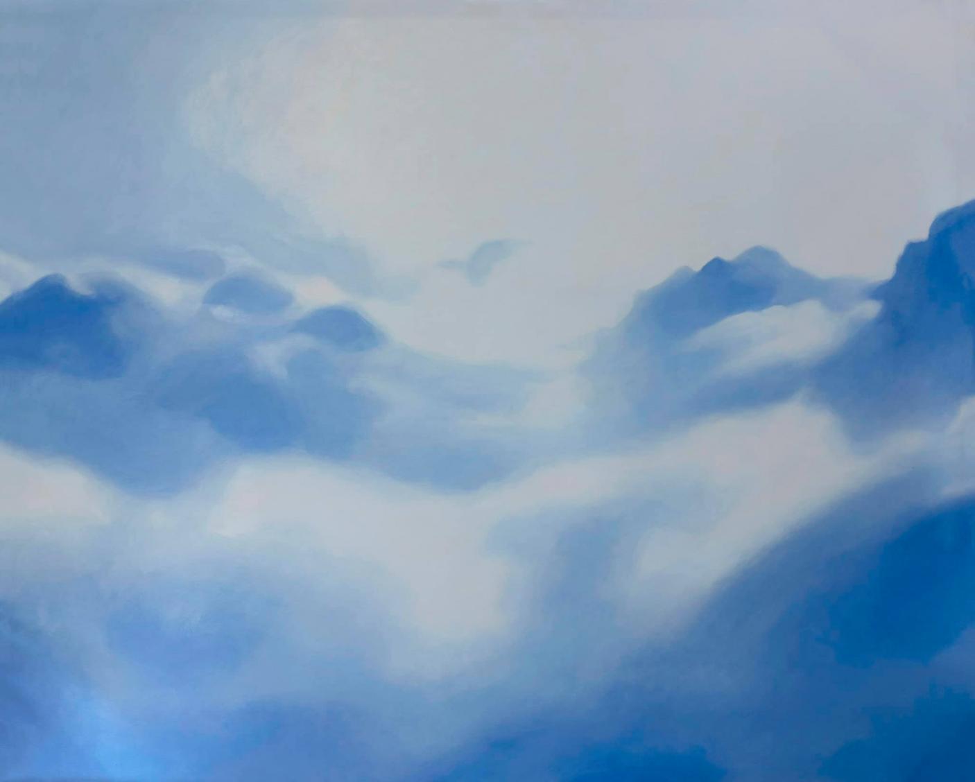 Bức Những ngày nhiều mây của họa sĩ Tia Thủy Nguyễn được mua với giá 450 triệu đồng
