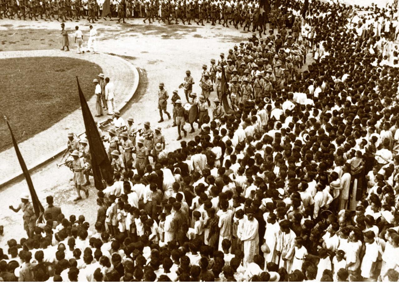 Đoàn quân nhạc trong ngày Độc lập  ẢNH BẢO TÀNG LỊCH SỬ QUỐC GIA