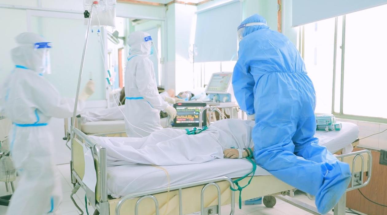 Những bệnh nhân nhiễm Covid-19 điều trị tại K1, bệnh viện Hùng Vương là những sản phụ  ẢNH ĐPCC