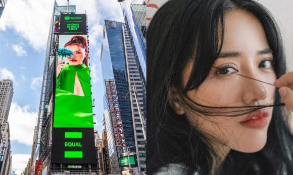 Phùng Khánh Linh xuất hiện trên billboard giữa Quảng trường Thời Đại, Mỹ