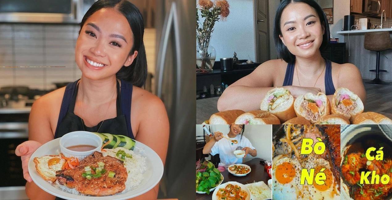 Tway Nguyen chụp hình cùng món ăn Việt như bánh mì, cơm tấm…  INSTAGRAM