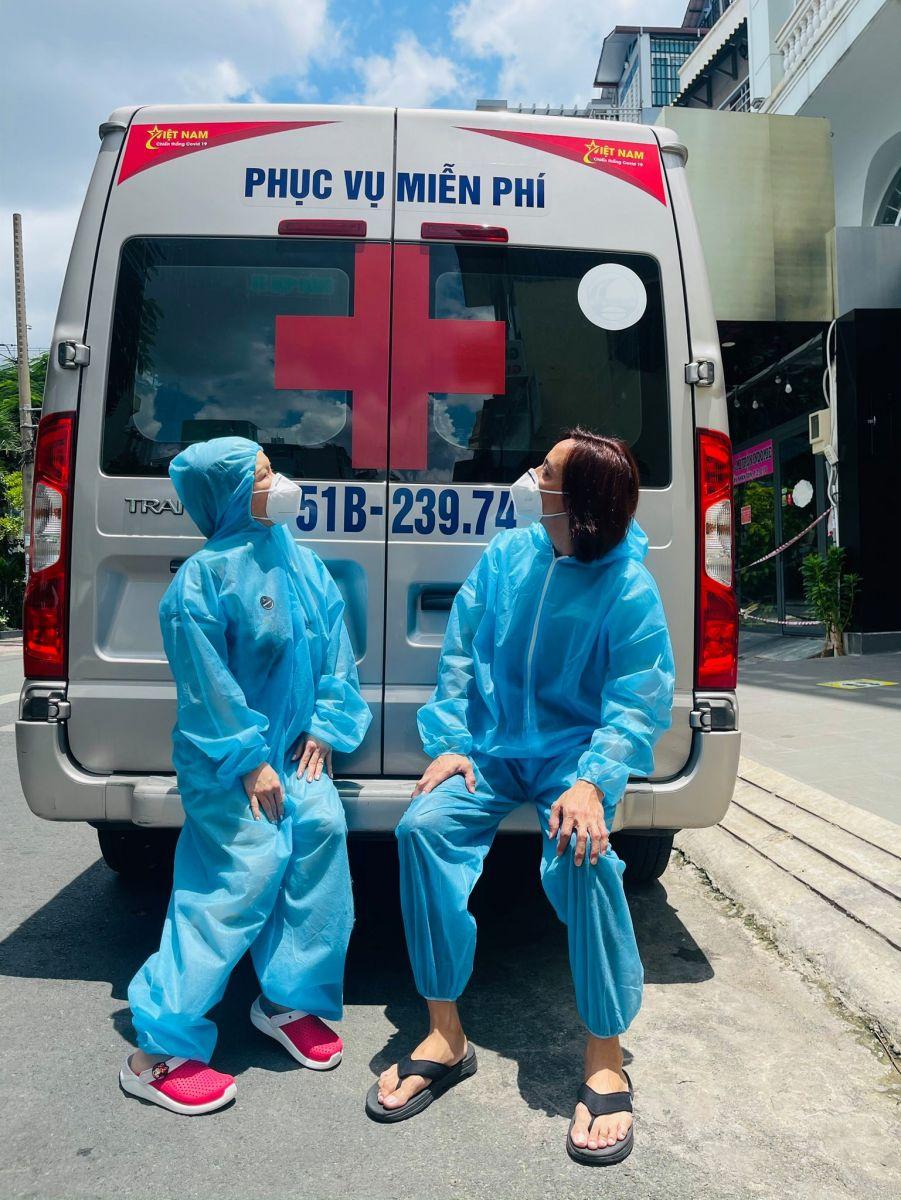 Ông xã Hoài Phương luôn ủng hộ, đồng hành cùng nữ nghệ sĩ trong các hoạt động thiện nguyện  ẢNH: FBNV