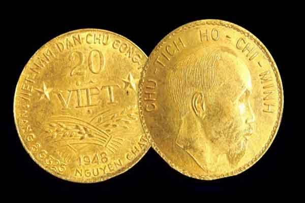 Đồng tiền vàng lịch sử của Chủ tịch Hồ Chí Minh