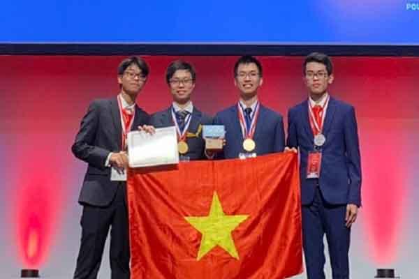 Việt Nam giành 3 huy chương vàng và 1 huy chương bạc Olympic Hóa học Quốc tế