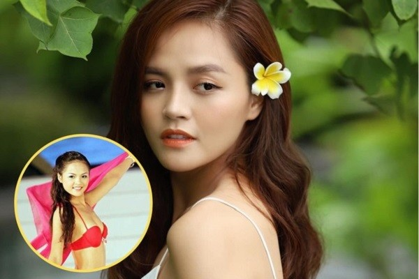 Diễn viên Thu Quỳnh khoe ảnh thời đi thi Hoa hậu Việt Nam 2008