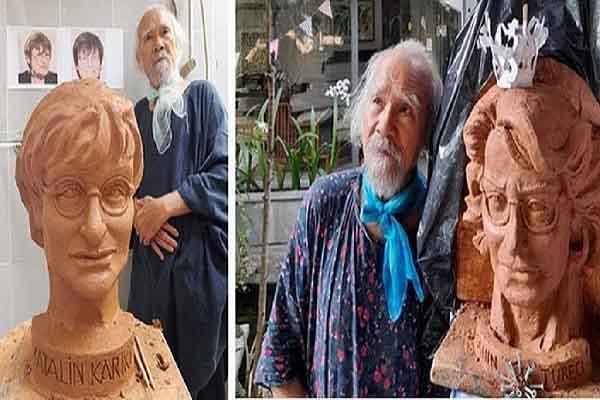 Điêu khắc gia Phạm Văn Hạng và câu chuyện tạc tượng hai nữ Tiến sĩ bào chế vaccine
