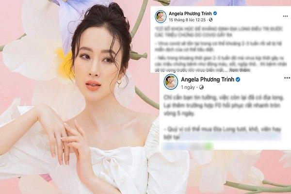 Angela Phương Trinh: 'Tôi xin rút kinh nghiệm, giun đất không chữa Covid-19'