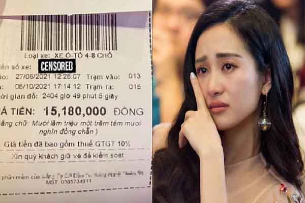 Jun Vũ 'khóc hết nước mắt' với hóa đơn hơn 15 triệu tiền gửi xe sân bay