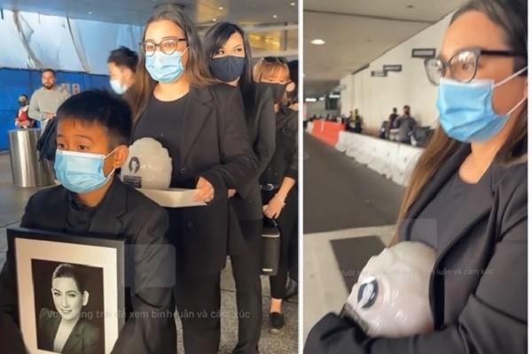 Việt Hương khóc nức nở trao tro cốt Phi Nhung cho con gái