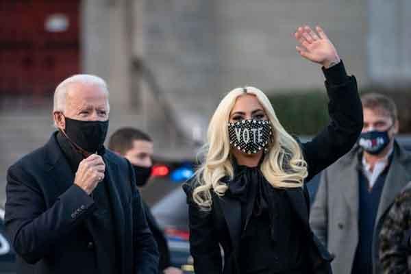Lady Gaga hy vọng ngày nhậm chức của ông Biden sẽ là ngày hòa bình cho nước Mỹ