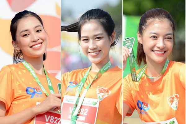 Tiểu Vy, Đỗ Hà và Kiều Loan chạy đua tại phố núi Pleiku