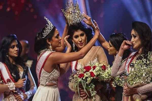 Người giật vương miện của Hoa hậu Quý bà Sri Lanka bị bắt