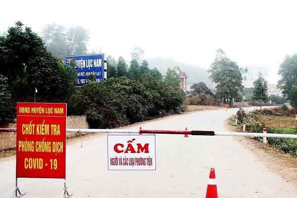 Giãn cách xã hội huyện Lục Nam (Bắc Giang) với hơn 200.000 dân