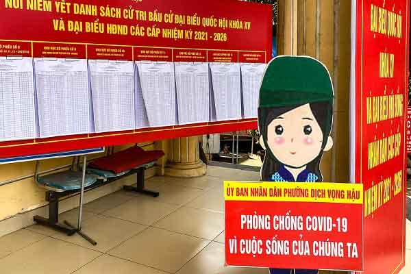 Bộ Y tế: Các điểm bầu cử ở địa phương có dịch COVID-19 phải bố trí khu cách ly