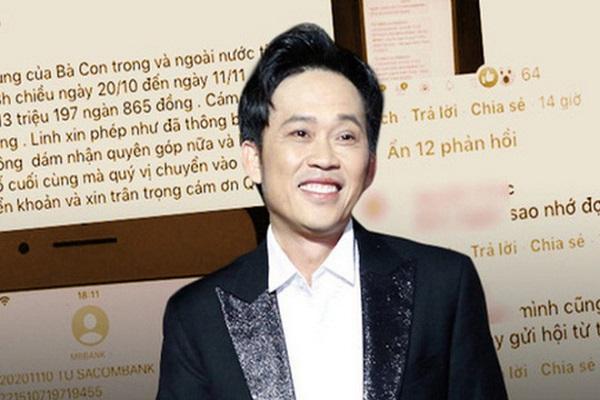 Nghệ sĩ Hoài Linh chính thức lên tiếng về số tiền từ thiện 13 tỷ