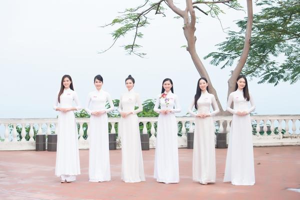 Thí sinh Hoa hậu Việt Nam 2020 khoe dáng với áo dài trắng