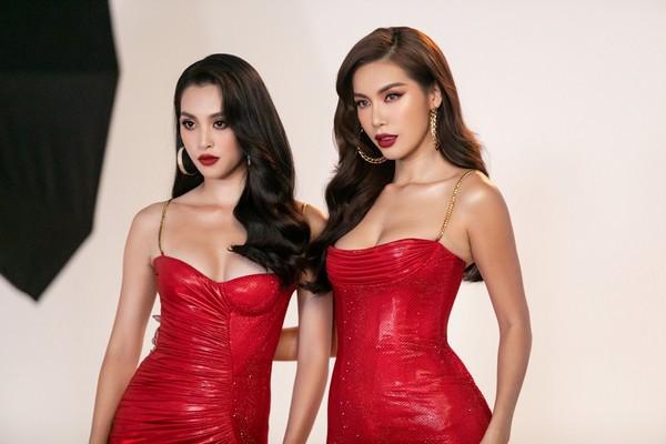 Minh Tú quyến rũ với sắc đỏ, đọ sắc cùng Hoa hậu Tiểu Vy