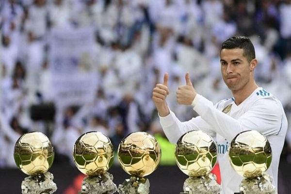 Cristiano Ronaldo lần thứ 5 giành danh hiệu 'Cầu thủ ghi bàn tốt nhất thế giới'