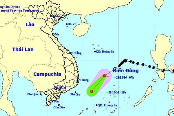 Bão số 10 suy yếu thành áp thấp trước khi vào Quảng Ngãi-Khánh Hòa