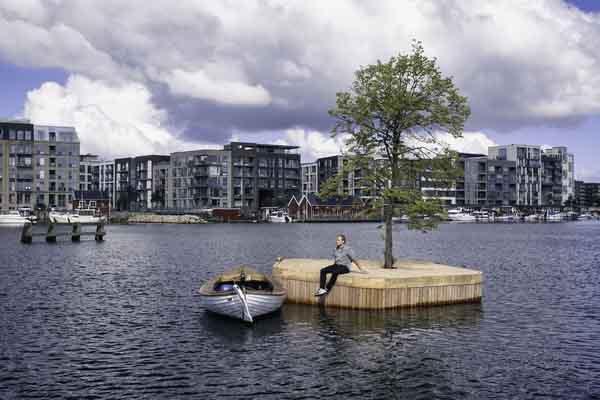 Độc đáo công viên có thể 'di chuyển' tại Đan Mạch