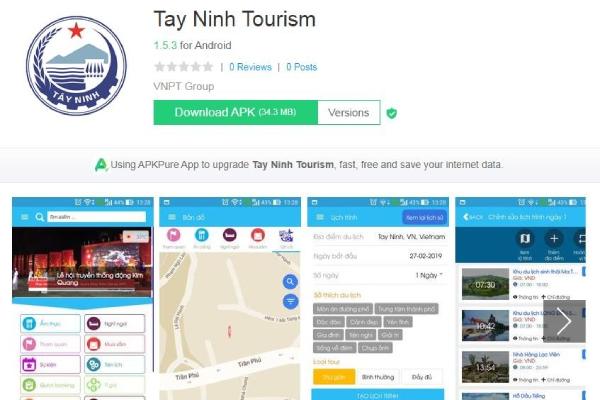 """Tây Ninh giới thiệu ứng dụng """"Tay Ninh Tourism"""" để hỗ trợ ngành du lịch"""