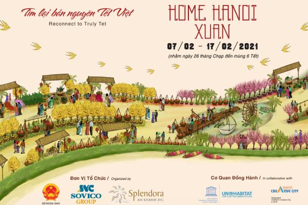 Đường hoa Home Hanoi Xuan 2021 đón khách từ 26 Tết
