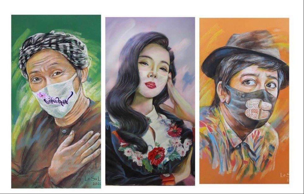 VIDEO: Triển lãm 'Người nổi tiếng với khẩu trang' của Lê Sa Long