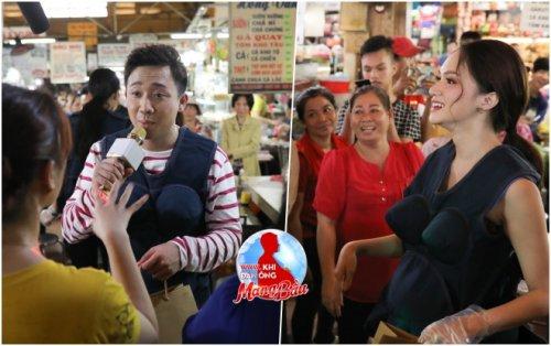 Trấn Thành - Hari - Trường Giang bán đồ ăn tại chợ Bến Thành