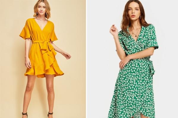Wrap dress - chiếc váy xinh xắn tôn dáng cho mùa hè
