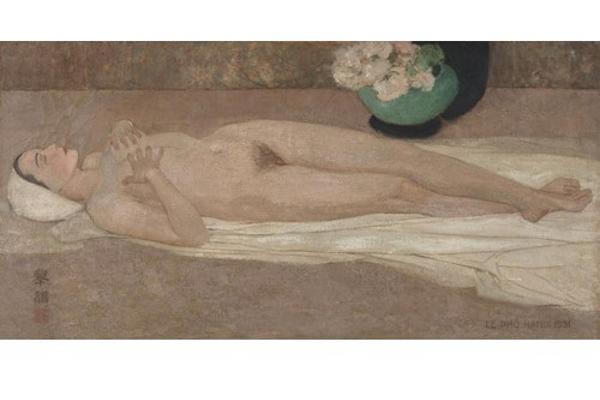 """Bức tranh """"Nude"""" của cố họa sĩ Lê Phổ có giá 32,5 tỷ đồng"""