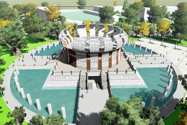 Phối cảnh đền thờ các vua Hùng tại Cần Thơ 130 tỉ đồng