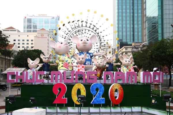 Chiêm ngưỡng đường hoa Nguyễn Huệ 2020 trước ngày khai mạc