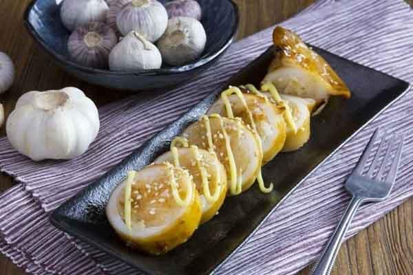 Mực nhồi cơm nướng giòn ngon, đúng kiểu Nhật