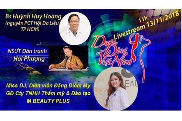 Livestream giao lưu Bs da liễu Huỳnh Huy Hoàng, NSƯT Hải Phượng, Miss DJ Diễm My