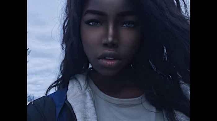 Nhan sắc của cô gái da đen được cho là đẹp nhất thế giới