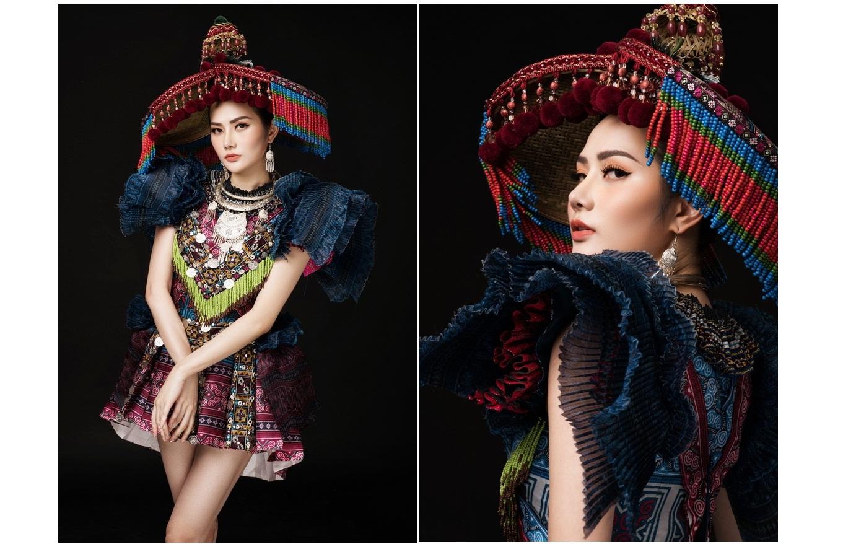 """Ấn tượng với trang phục H'Mong của Diệu Linh tại """"Nữ hoàng Du lịch Quốc tế"""""""