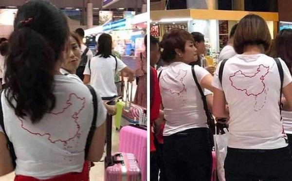 """Vụ du khách Trung Quốc mặc áo in hình """"lưỡi bò"""" khi nhập cảnh, Tổng cục Du lịch nói gì?"""