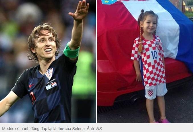 Lá thư hồi âm cảm động của Modric đến cô bé 5 tuổi bị ung thư