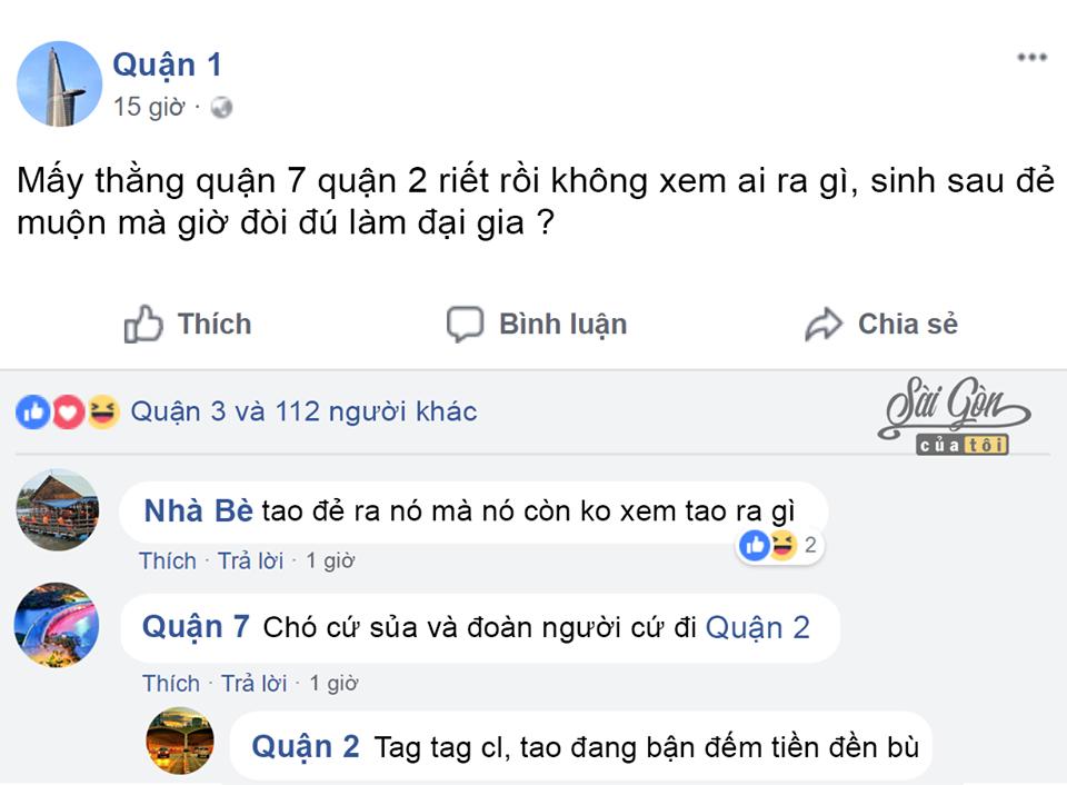 Chết cười khi cư dân Sài Gòn dùng Facebook