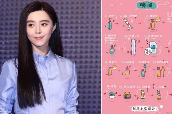 """Quy trình dưỡng da 28 bước của Phạm Băng Băng khiến fan """"tròn mắt"""""""