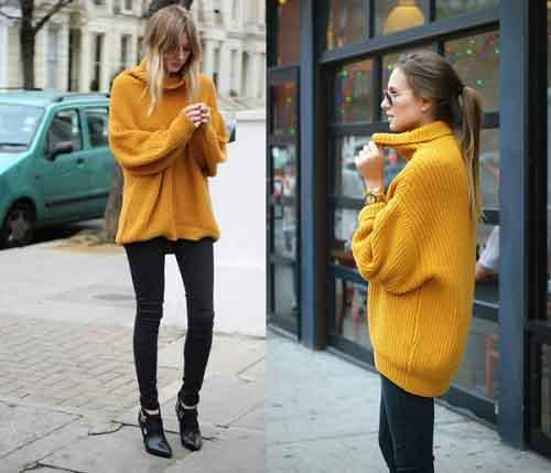 Tết này phải diện váy áo màu vàng mù tạt