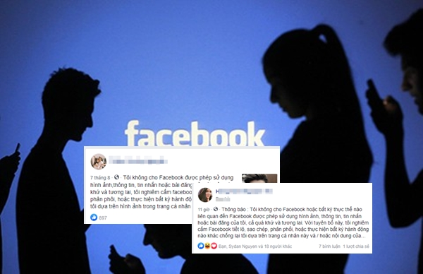 Bóc mẽ trò lừa 'Tôi không đồng ý cho Facebook chia sẻ ảnh hoặc tin'