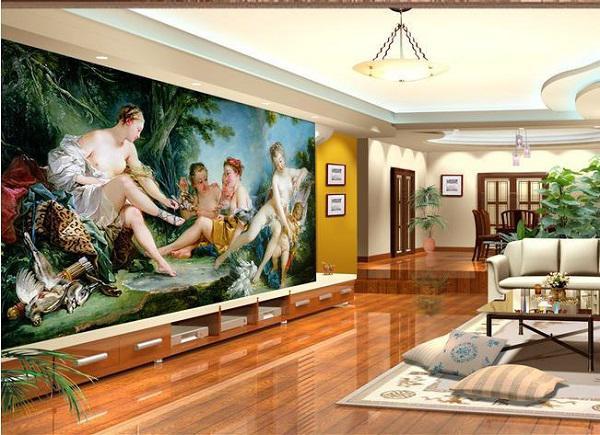 Trang trí nhà đẹp với phong cách tranh 3D sống động