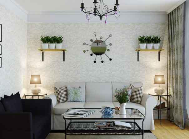 Cách làm mới không gian phòng khách đón Tết