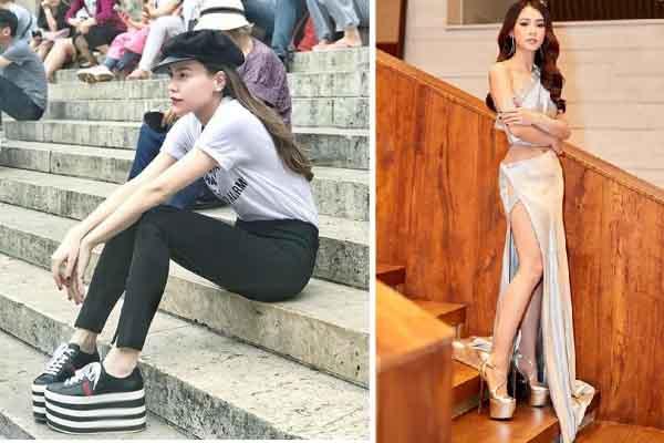 Những sao Việt mất điểm vì diện giày quá cao