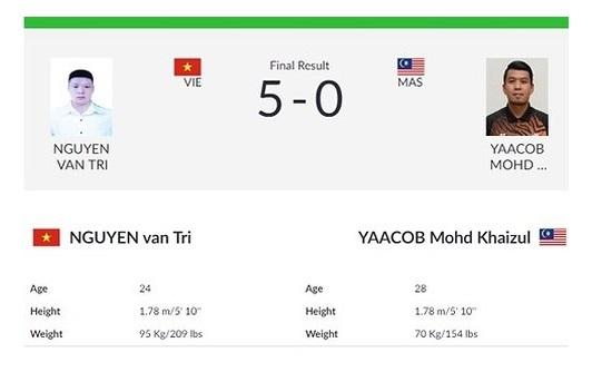 Võ sĩ Nguyễn Văn Trí giành HCV Pencak Silat