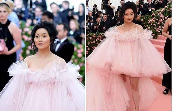 Cô gái mồ côi gốc Việt với bộ váy hồng tỏa sáng tại Met Gala 2019