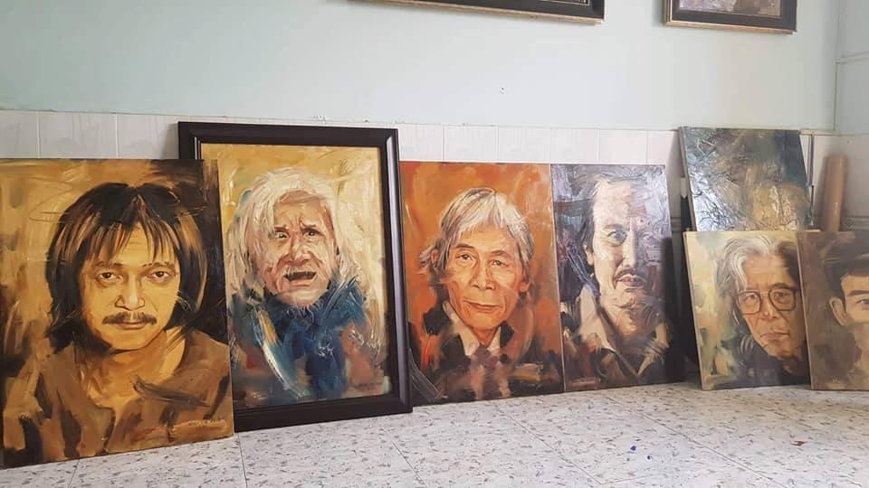 Trần Thế Vĩnh vẽ chân dung những nghệ sĩ gạo cội