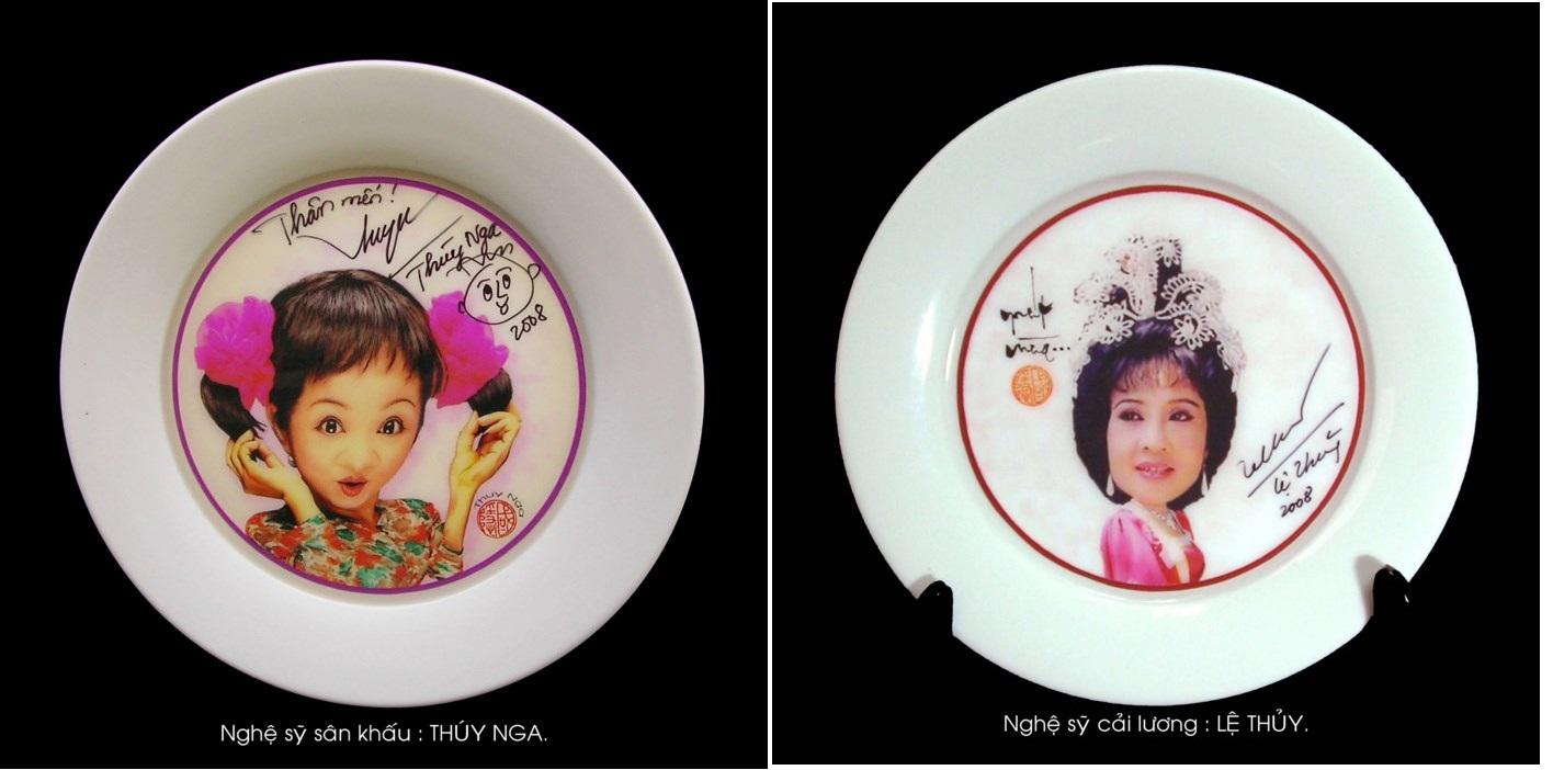 Độc đáo bộ hí họa chân dung 100 nghệ sĩ nổi tiếng trên đĩa